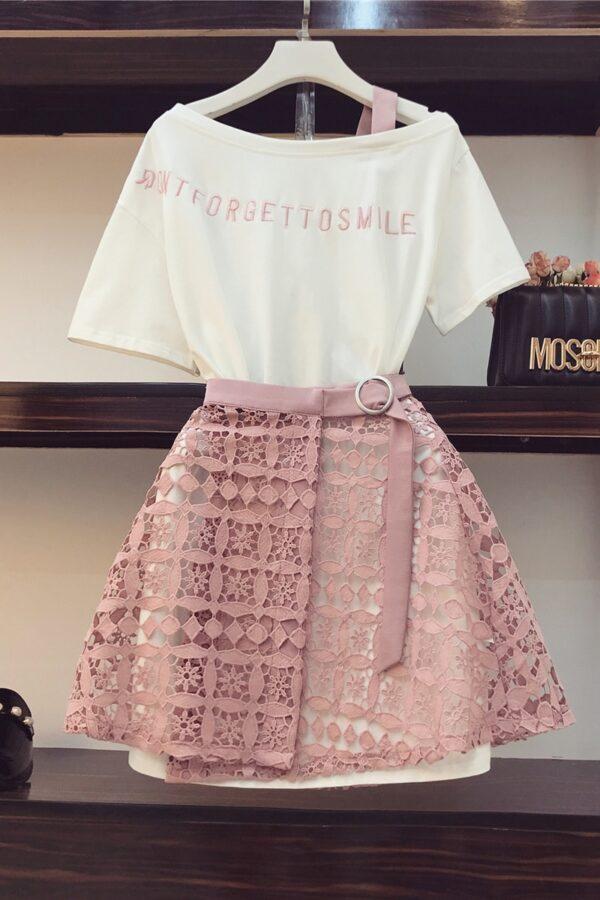 2020-Spring-Summer-Women-Fashion-2-Piece-Suit-Slash-Collar-Off-Shoulder-Long-T-Shirt-Hollow-2.jpg