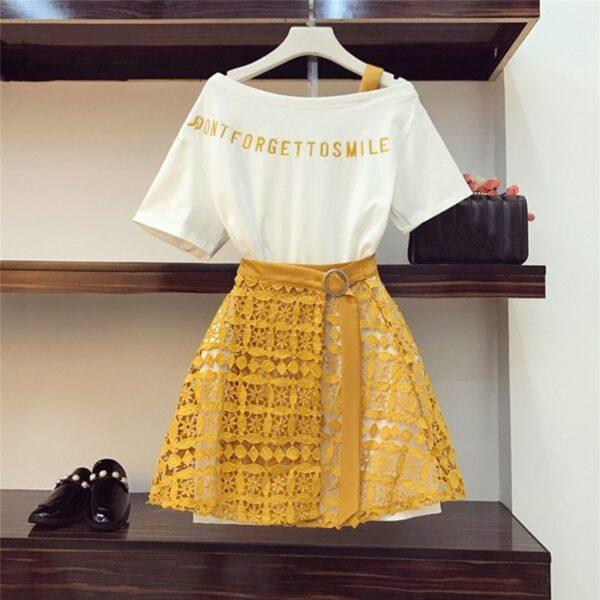 2020-Spring-Summer-Women-Fashion-2-Piece-Suit-Slash-Collar-Off-Shoulder-Long-T-Shirt-Hollow-5.jpg